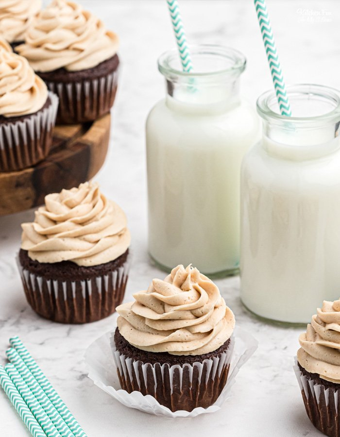 Peanut Butter Frosting is a terrific homemade icing recipe. You can use it to top your favorite chocolate cupcakes, cakes, brownies and more.