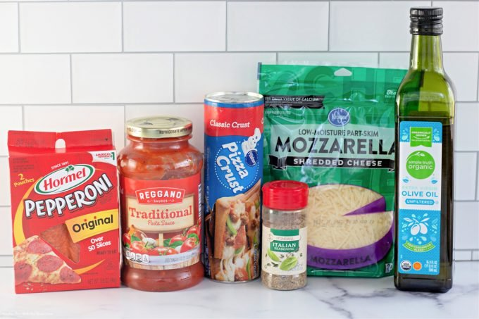 ingredients to make Pepperoni Pizza Pockets.