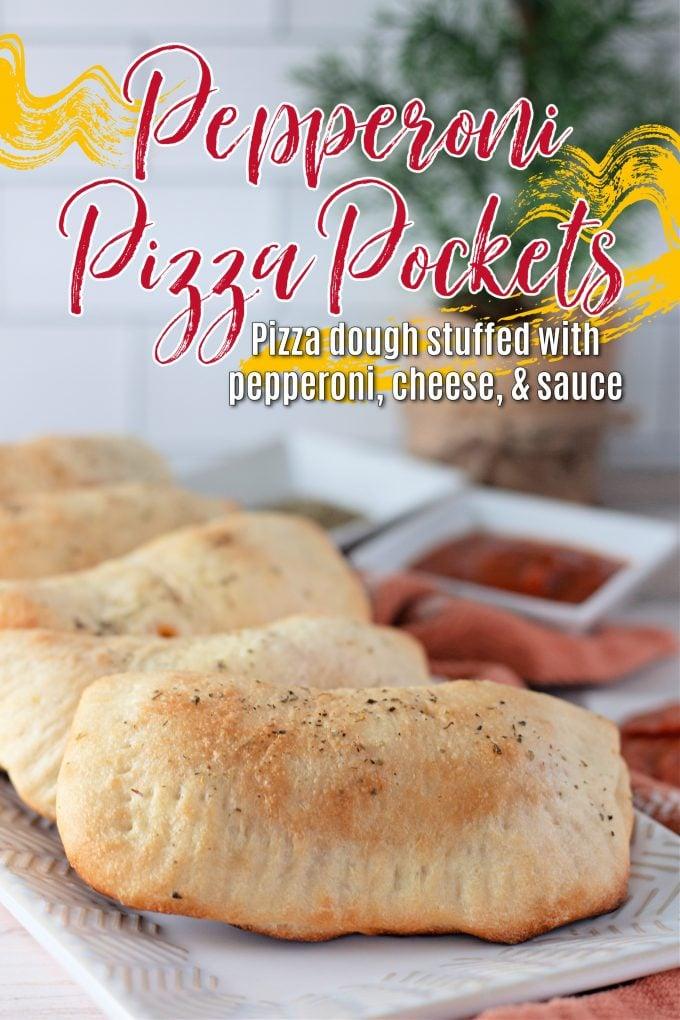 Pepperoni Pizza Pockets on Pinterest.