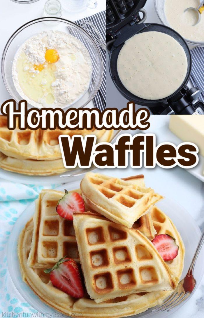 homemade waffles pin