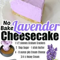 No-Bake Lavender Cheesecake