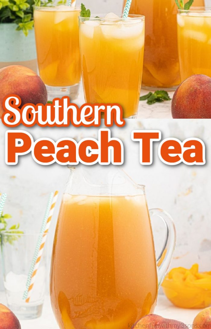 southern peach tea pin