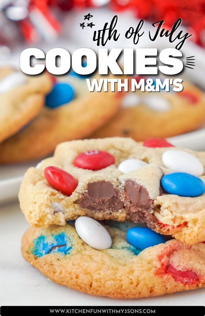 4th of july cookies pinterest image