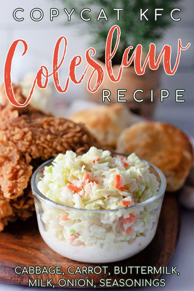 Copycat KFC Coleslaw on Pinterest.
