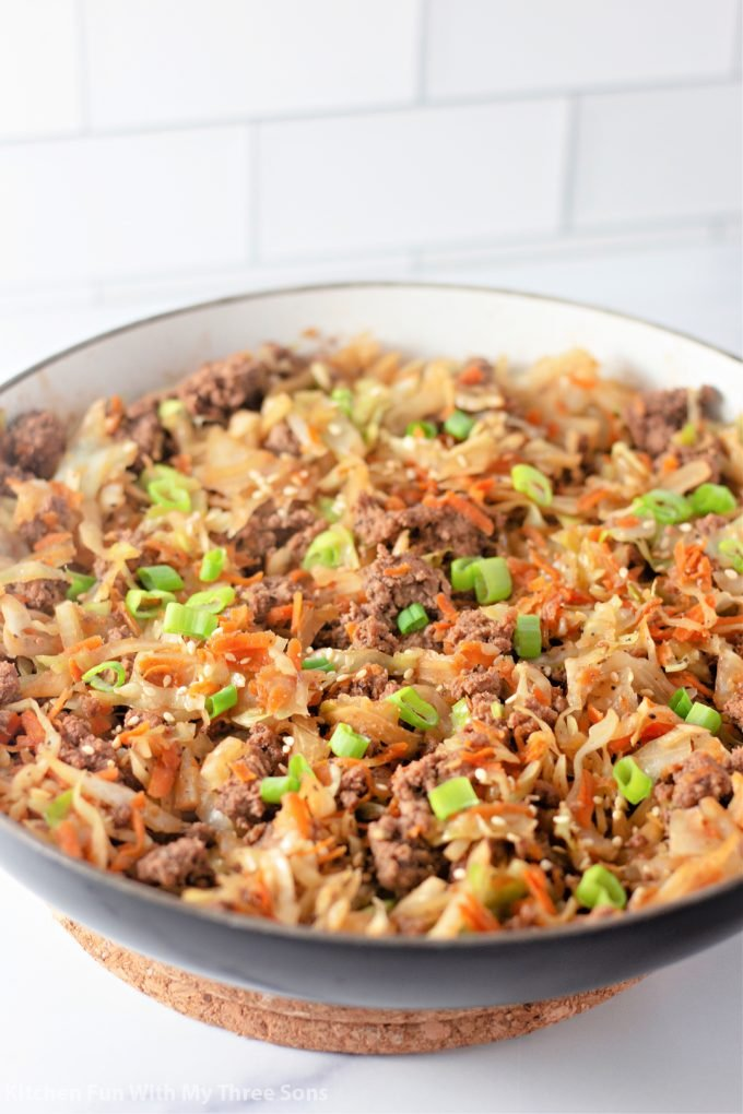 freshly made Egg Roll in a Bowl.