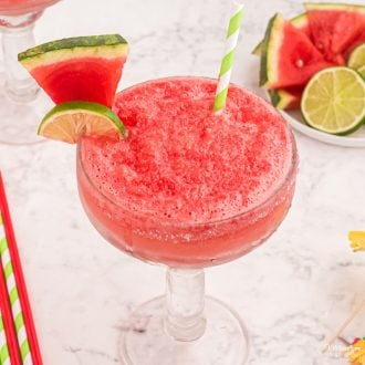 Watermelon Margaritause only four ingredients but pack a huge punch. It's a refreshing summer cocktail with fresh fruit and tequila.