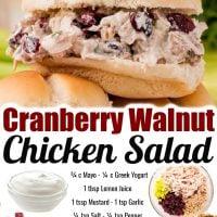 Cranberry Walnut Chicken Salad