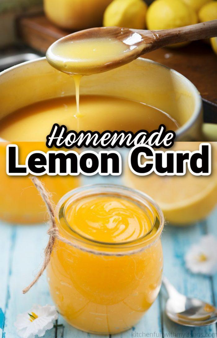 homemade lemon curd pin