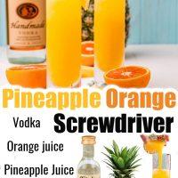 Pineapple Orange Screwdriver