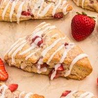 Strawberry Scones