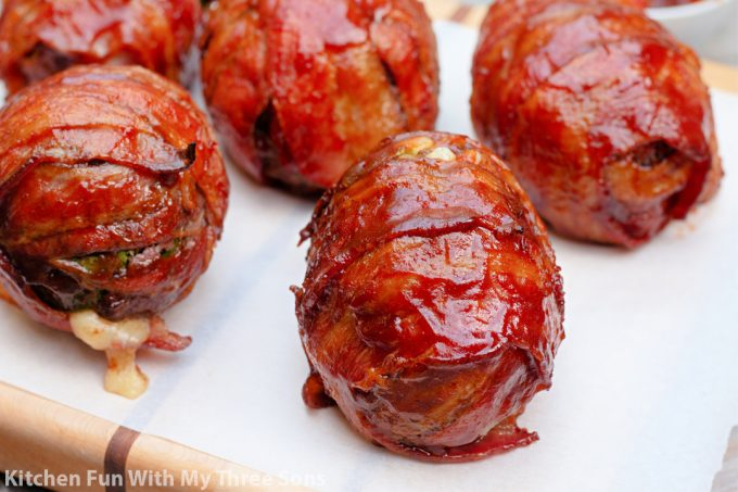 BBQ Bacon Wrapped Burger Bombs