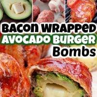 Bacon Wrapped Avocado Burger Bombs