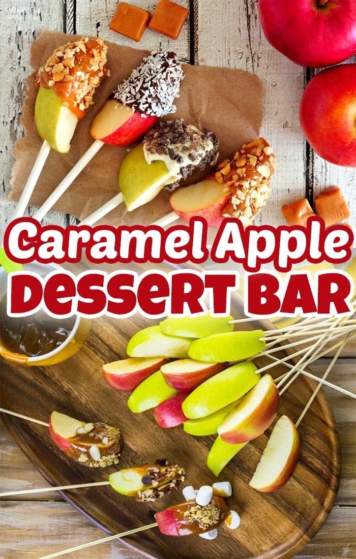 A Caramel Apple Slices Bar is such a fun fall treat to make with the family. Grab your favorite toppings and create your own!