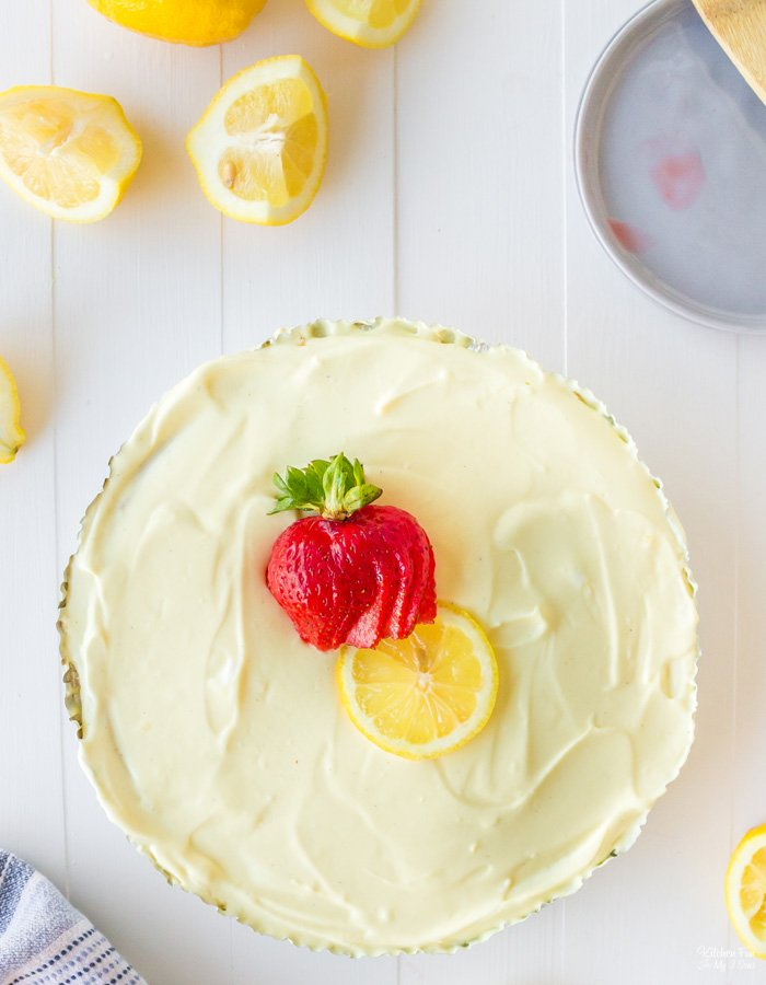 Frozen Lemonade Pie is a yummy no-bake dessert that takes just 10 minutes to prep. It combines frozen lemonade with creamy pudding and Cool Whip on a graham cracker crust.