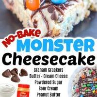 No-Bake Monster Cheesecake