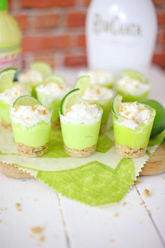 Key Lime Pudding Shots