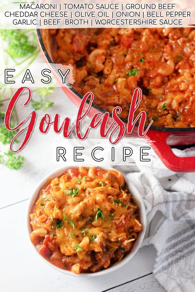 Easy Goulash Recipe on Pinterest.