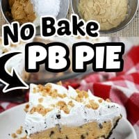 This no bake peanut butter pie is the perfect dessert for any occasion. It's easy to make, and it only takes a few ingredients!