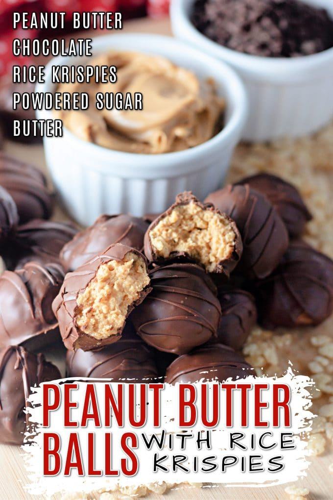 Peanut Butter Balls with Rice Krispies on Pinterest.