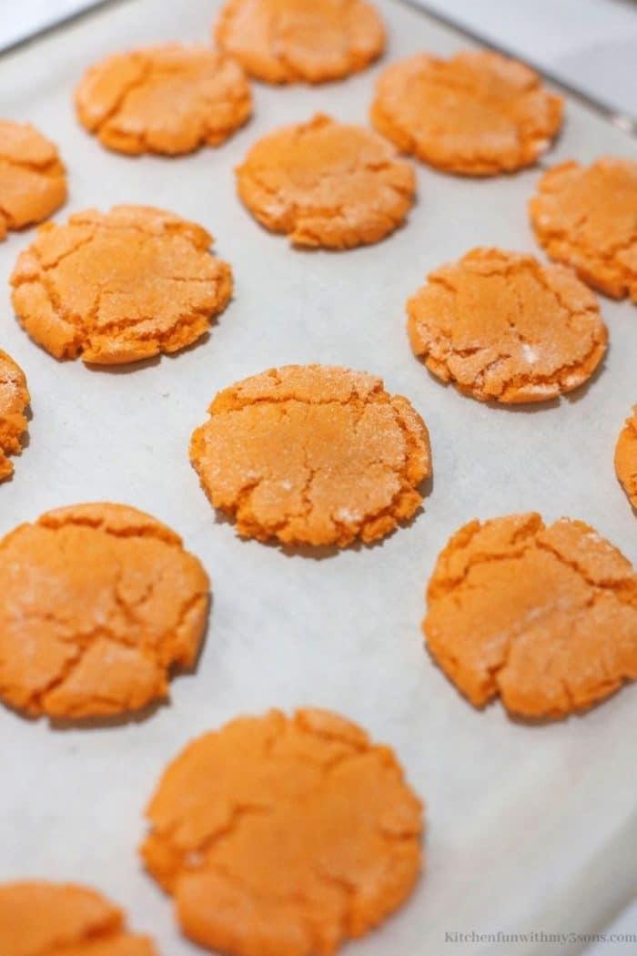 the cookies pressed down.