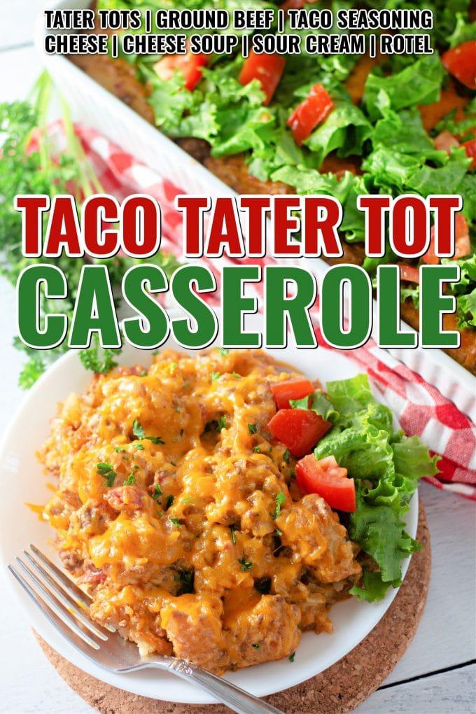 Taco Tater Tot Casserole on Pinterest.