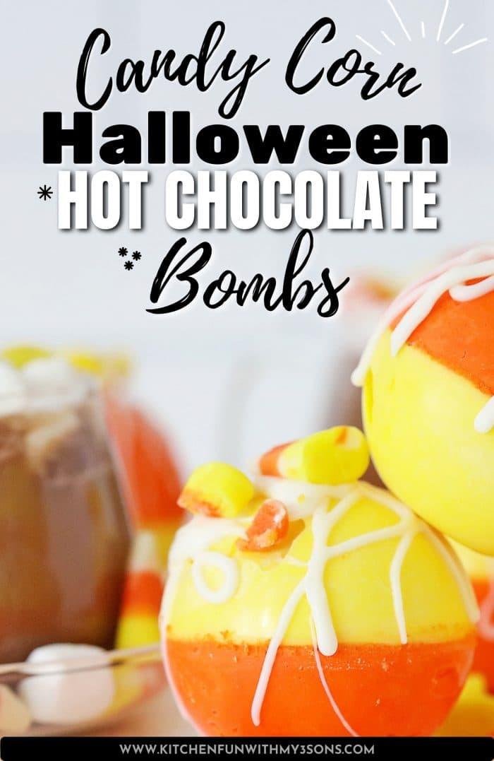 pinterest image for Halloween Hot Chocolate