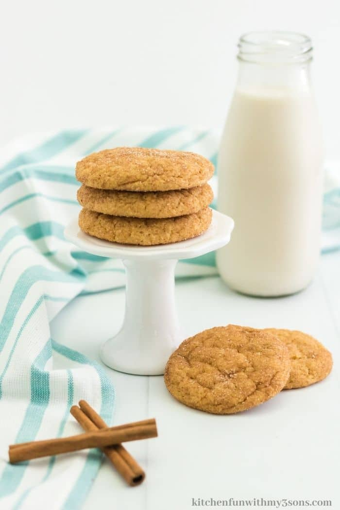 Cookies on a small stand.