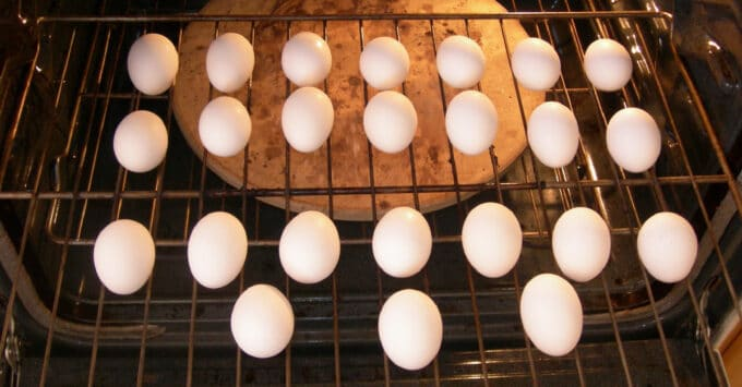 Baked Hard Boiled Eggs in the Oven
