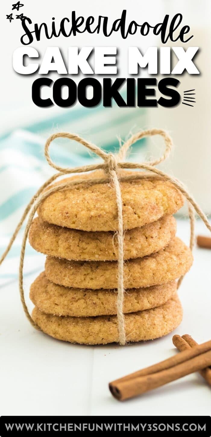 snickerdoodle cake mix cookies pinterest image