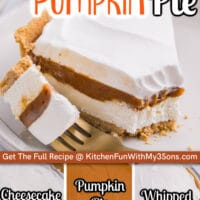 No Bake Pumpkin Cheesecake Pie