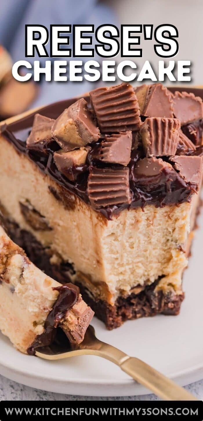 reese's cheesecake pinterest image